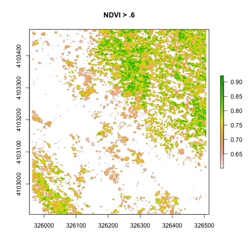 Mask a Raster using Threshold Values in R – Data Institute 2016